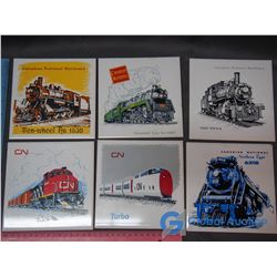 "(6) 6""x6"" CN Railway Tiles"