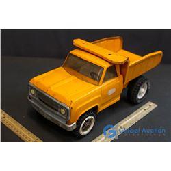 Orange Tonka Dump Truck (Metal)
