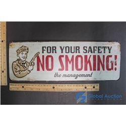 No Smoking Sign! Tin Sign