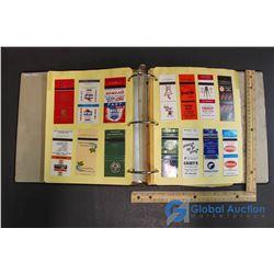 Binder Full of Advertising Matchbooks