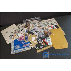 Box of Assorted Stamps & Stamp Books