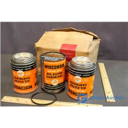 Box of 3 Wisconsin Micro-Fine Oil Filter Cartridge for Air-Cooled Engines