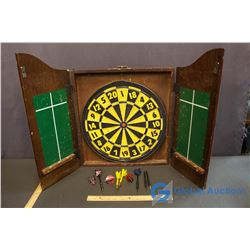 Scottish Coat Of Arms Dart Board with Darts