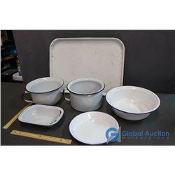 6 Pieces Enamel Ware Set