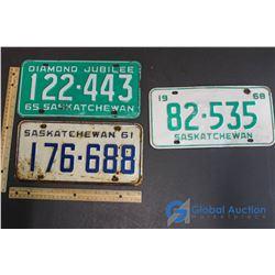 1968, 1965 & 1961 Sask Plate