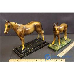 (2) Genuine Devonware Horses With Labels