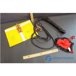 Casity Belt Gag & Leather Whip