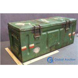 1945 Green FM Amo Collectors World War 2 Metal Box