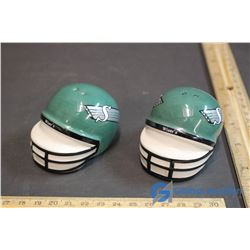 (2) Vintage Saskatchewan Rough Riders Grey Cup Wisers Helmets (Salt