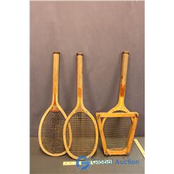 (3) Vintage Wooden Rackets