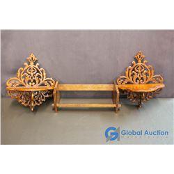 (3) Wooden Shelves
