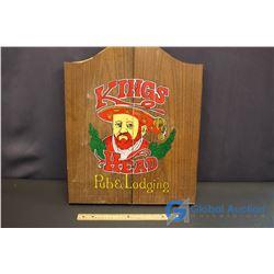 Kings Head Pub & Lodging Dart Board & Darts with Wooden Doors