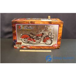 1948 Die Cast Indian Chief 348 Motorcycle In Orginal Box