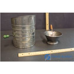 Metal Flour Sifter & Strainer