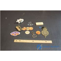 Misc Vintage Items (Badges, Milk Caps, etc)