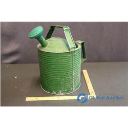 Rustic Green Metal Garden Watering Can