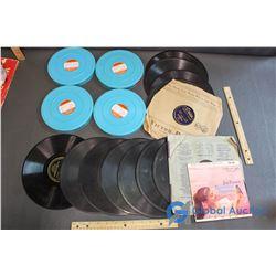 (4) Movie Reels & 14 Records