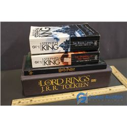 (2) Stephen King Novels, Harry Potter Journal & The Lord of the Rings