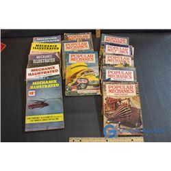 (8) Vintage Popular Mechanics Magazines & (5) Mechanix Illustrated Magazines