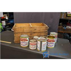 Vintage JS Dart Store Glaslyn (Egg Crate, Rogers Syrup Tins, etc)