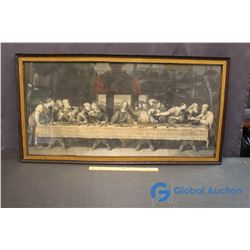 Framed Religious Last Supper Picture