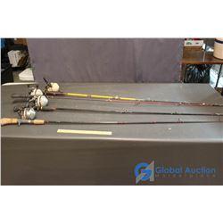 (4) Fishing Reels (Zebco 808 - 888 Rhino Rods)