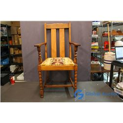 Vintage Wooden Chair from the Harwood Hotel in Moose Jaw