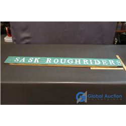 Saskatchewan Rough Riders Wooden Slat from Taylor Field