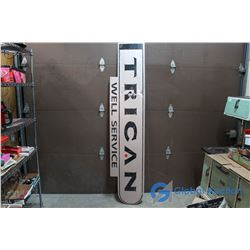 """Trican Well Service"""" Metal Sign 88"""" x 18"""