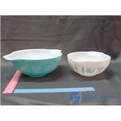 2 ButterPrint Pyrex Bowls