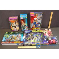 Lot of Misc NIB Toys and Yo-Yos (Barbie, Disney, Stellar Force)