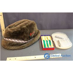 Vintage Hat, Pens & Other