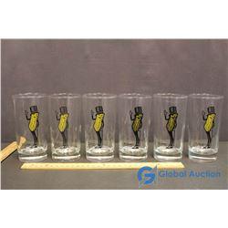 6 Mr.Peanuts Glasses - BID PRICE IS PER GLASS, TIMES 6