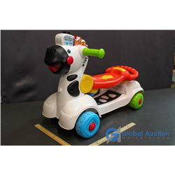 V-Tech 3-in-1 Learning Zebra Scooter (Working) Batteries Not Included