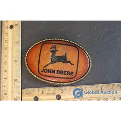 Leather John Deere Belt Buckle
