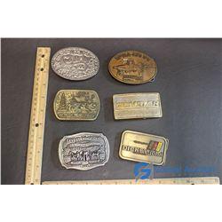 (6) Assorted Belt Buckles