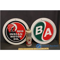 Red Indian & BA Ads, Texaco Windshield De-Icer