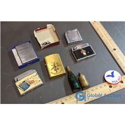 (5) Lighters & YWCA/YMCA Pin