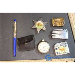 (3) Lighters, Pocket Watch