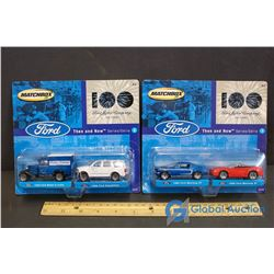 (2) NIB Matchbox Ford Then & Now Collector Cars