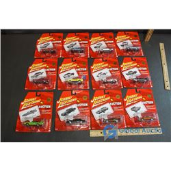 (12) NIB Johnny Lightning Auction Insanity Model Cars (Complete Set)