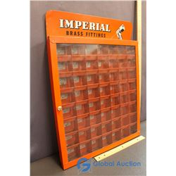 Imperial Brass Fittings Display Cabinet