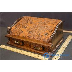Decorative Wooden Box of Pins