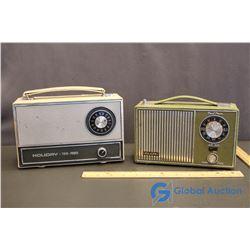 (2) Vintage Portable Holiday Radios