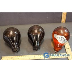 (3) Automatic Fire Master Vintage Fire Extinguishers (DELICATE)