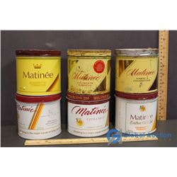 (6) Matinee Tobacco Tins
