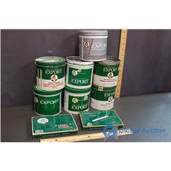 (7) MacDonald Tobacco Tins & (2) Cigarette Tins