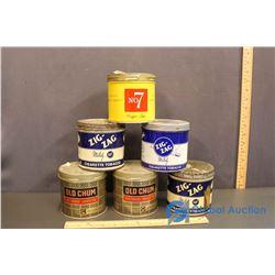 (3) Zig Zag & (2) Old Chum Tobacco Tins