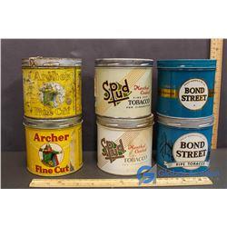 (2) Bond Street, (2) Spud & (2) Archer Tobacco Tins