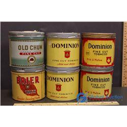 (4) Dominion, Briar & Old Chum Tobacco Tins